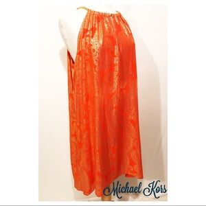 Michael Kors Bergalia Chain Foil  Dress
